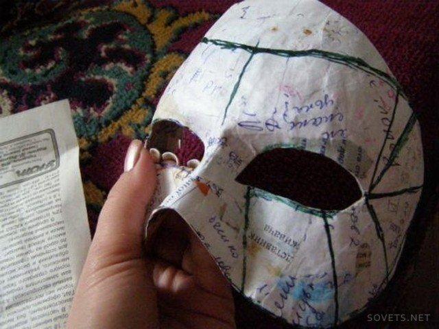 Как сделать маску своими руками из папье-маше
