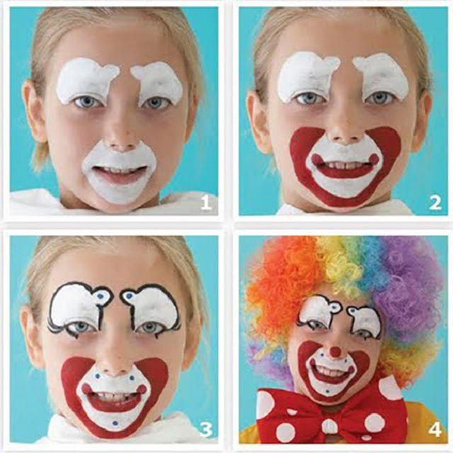Макияж клоун 4