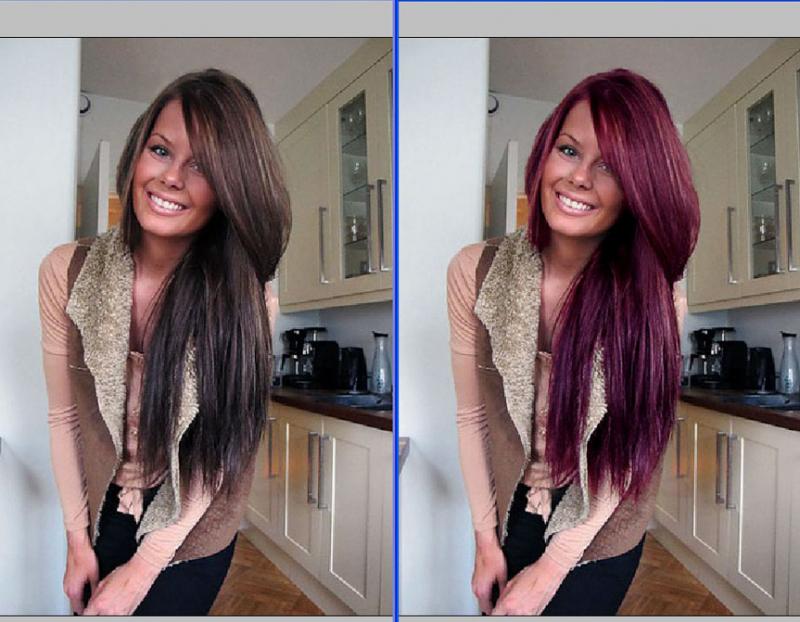 Фотошоп прически и цвета волос