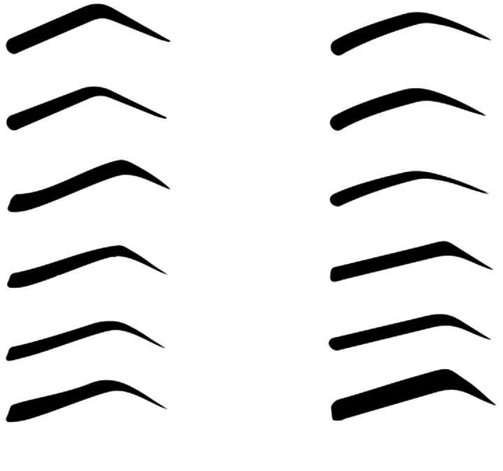 Трафареты для бровей своими руками шаблоны