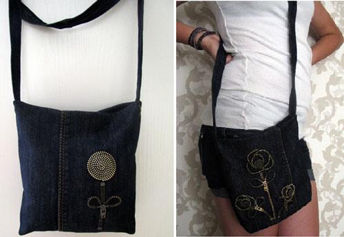 Как пошить сумку своими руками из старых джинсов