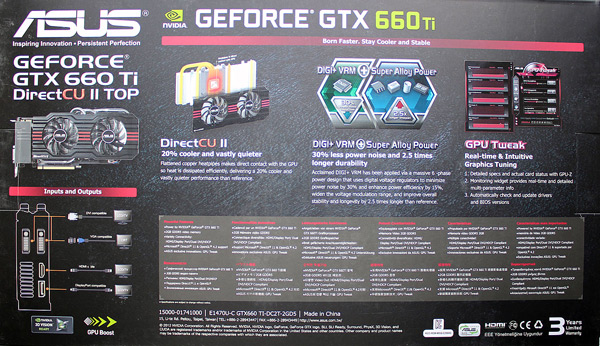 Відеокарта ASUS GeForce GTX 660 DirectCU II OC 2GB