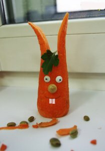 Как сделать поделку из морковки своими руками