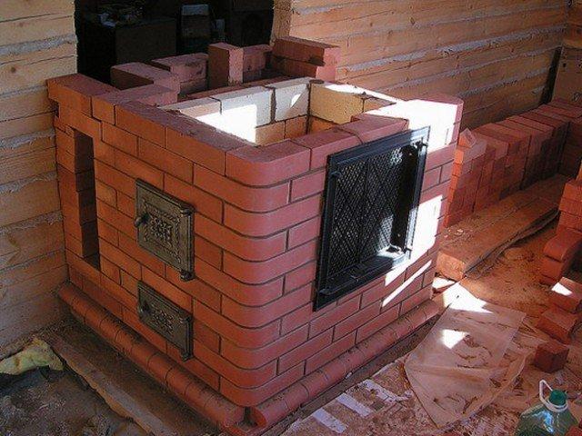 Маленькая печь для дачи: выбор между металлом и кирпичом и схема 75