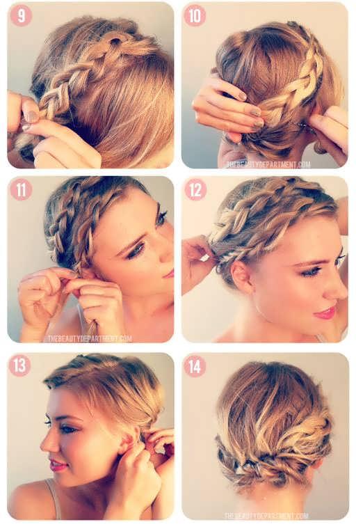 Причёски на короткие волосы в домашних условиях фото косы