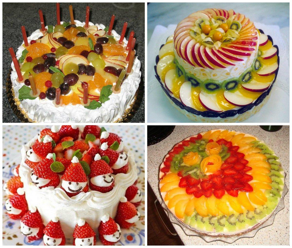 Торт из фруктов своими руками пошагово 215