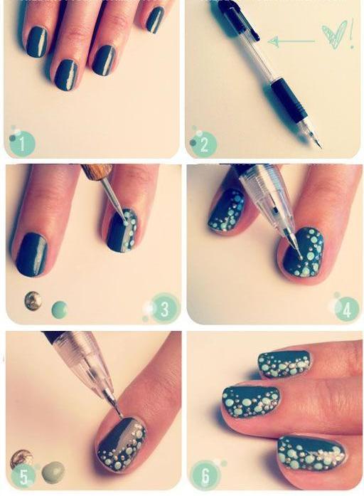 Рисунок для коротких ногтей в домашних условиях фото