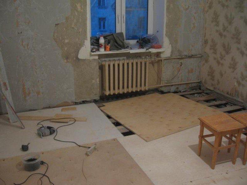 Как отремонтировать пол в квартире своими руками