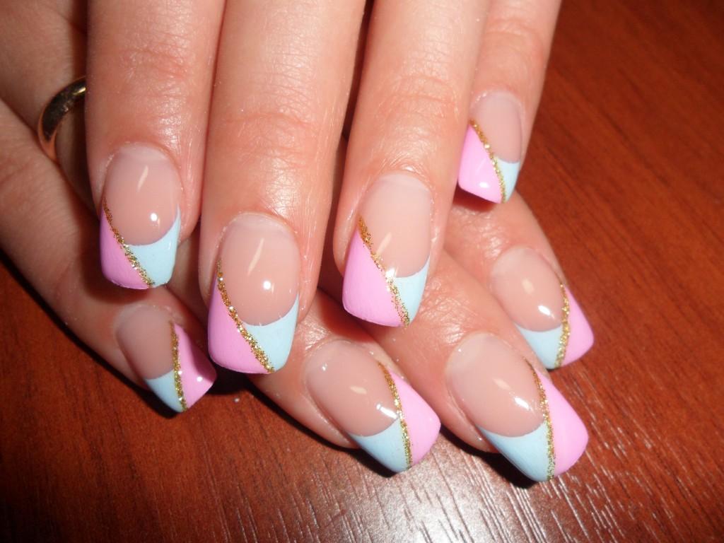 Наращивание ногтей короткие дизайн