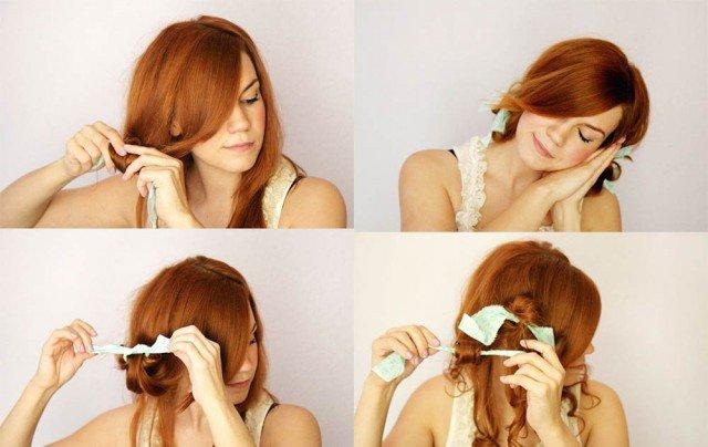 Как в домашних условиях сделать локоны для средних волос