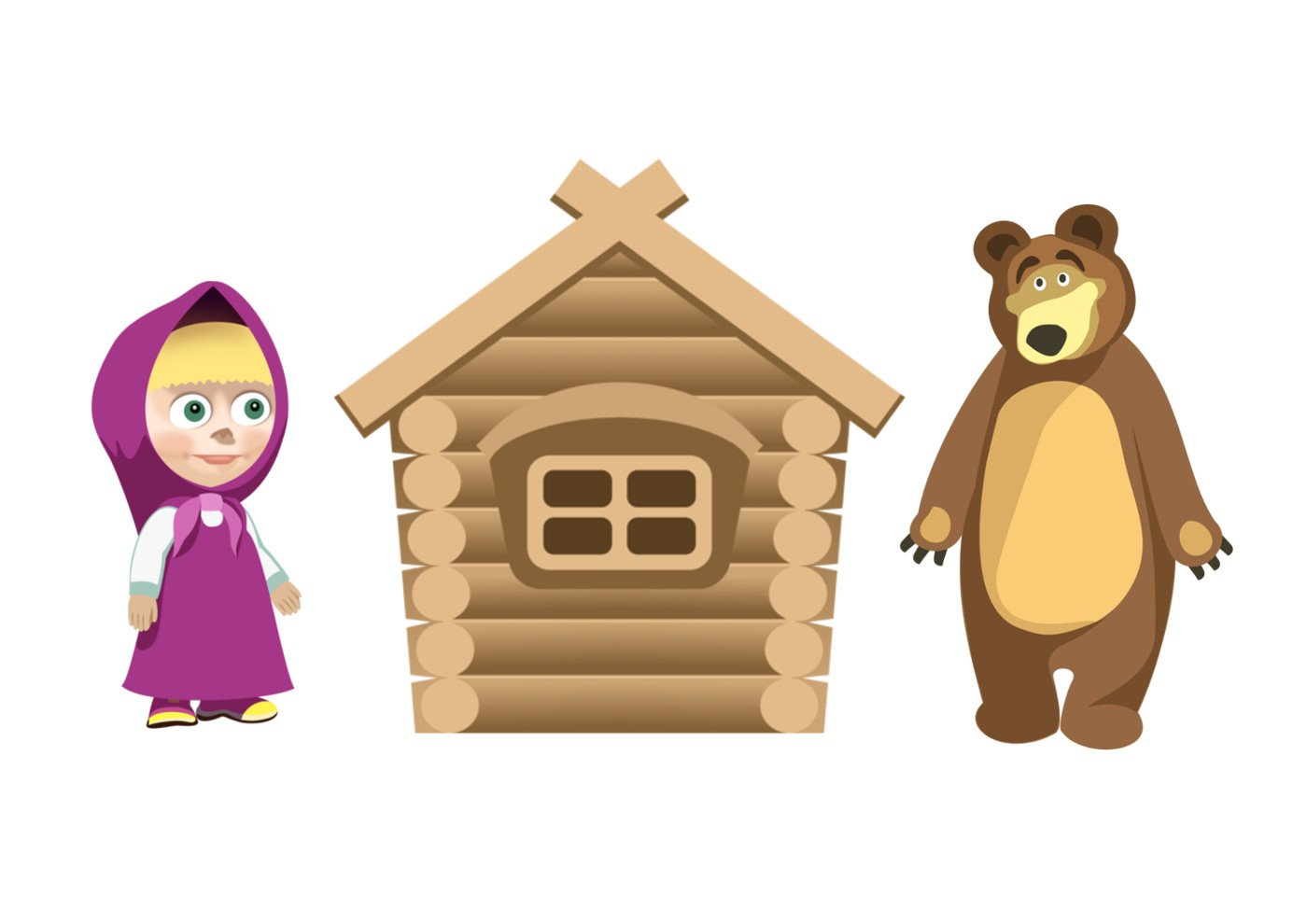 Маша и Медведь из пластиковых бутылок и монтажной пены 6