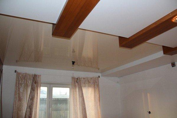 Как сделать натяжные потолки если балка