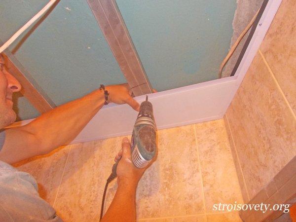 Навесной пластиковый потолок своими руками пошаговая инструкция 18
