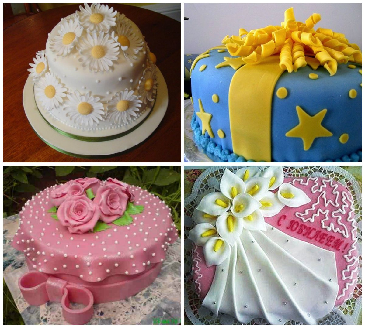 Как сделать с мастики украшение для торта