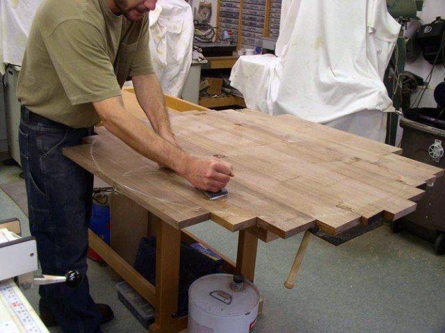 Сделать дубовый стол своими руками 31