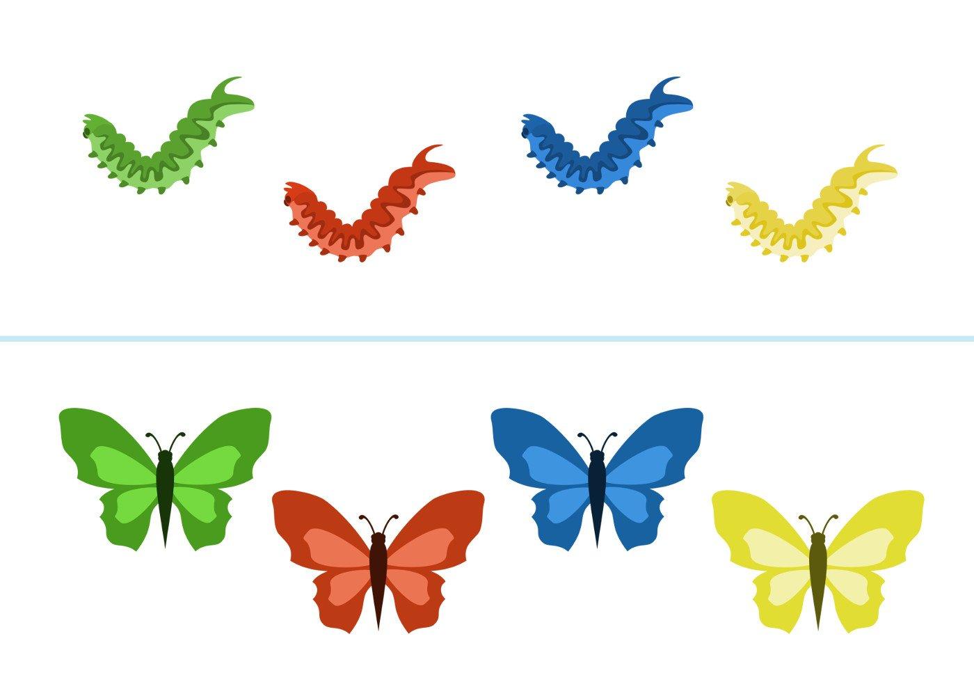 Как сделать бабочку с малышом