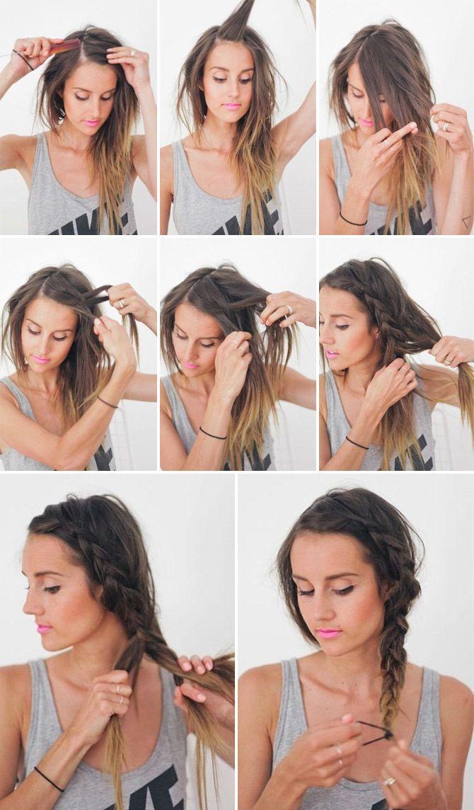 Стильная прическа на длинные волосы своими руками 340