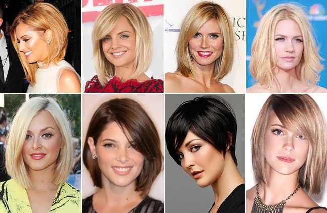 Женские прически для средних волос и круглого лица
