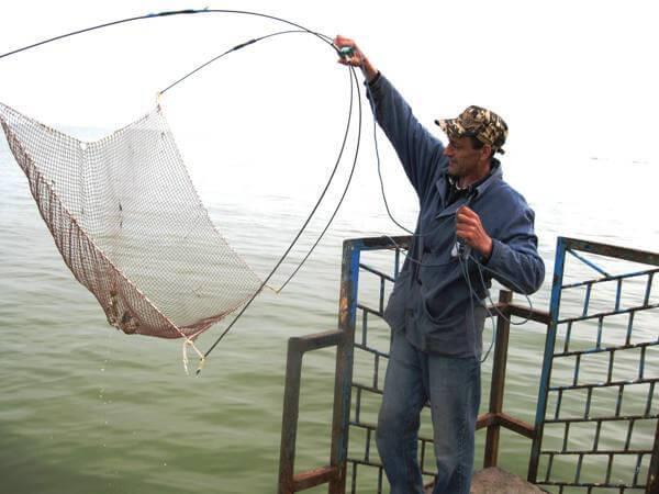 рыбалка на косынку с лодки