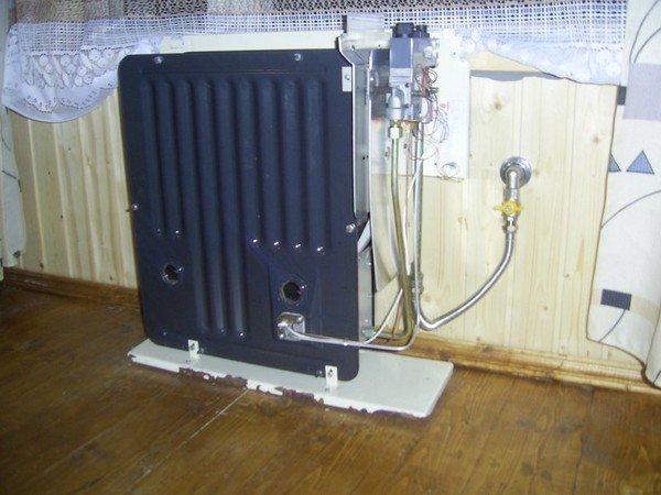 Установка газового конвектора в деревянном доме своими руками 39