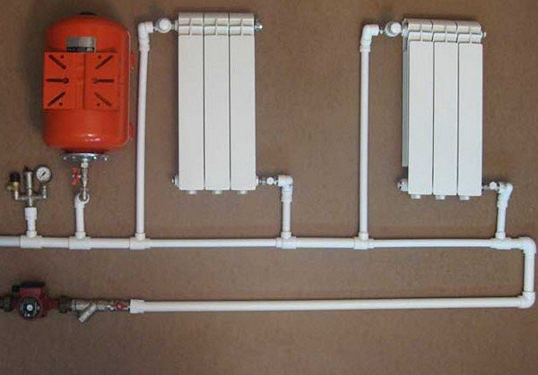 Отопление в частном доме из полипропиленовых труб цена