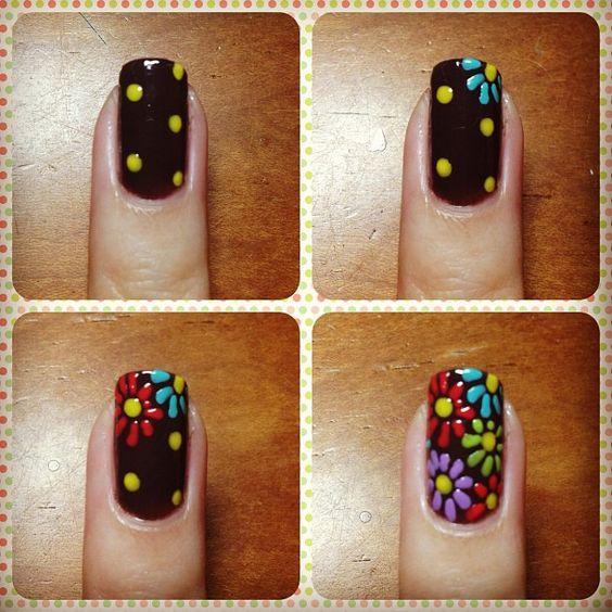 Маникюр рисунок на ногтях пошагово фото
