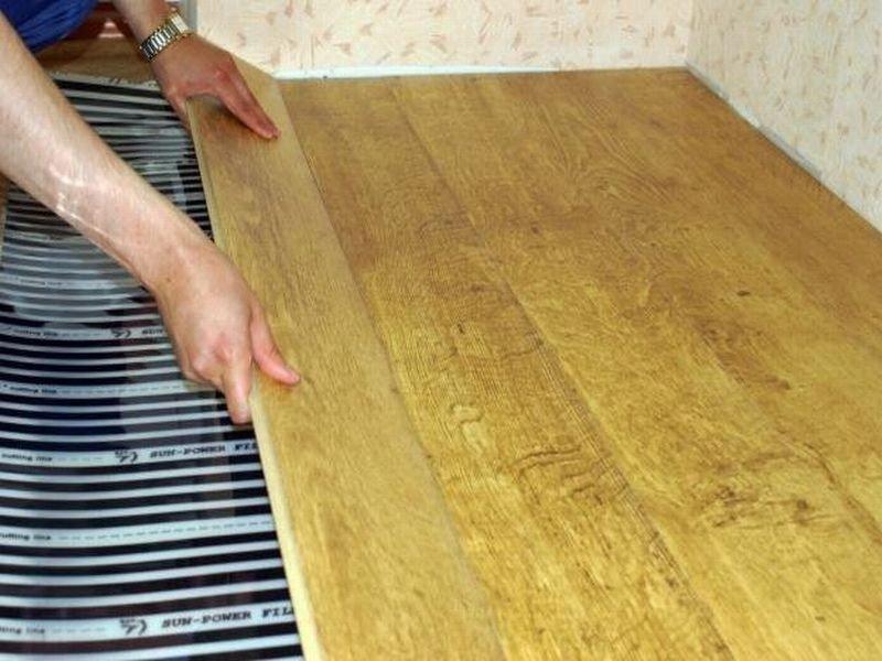 Укладка ламината под плитку своими руками