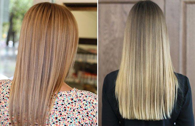 Брондирование на длинные волосы фото