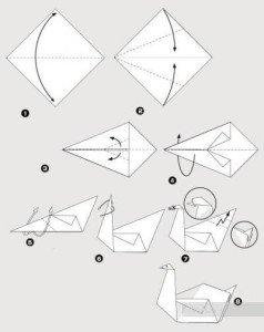 Как сделать птицу счастья из бумаги фото 780