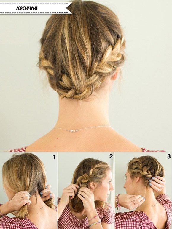 Прическа как собрать волосы наверх