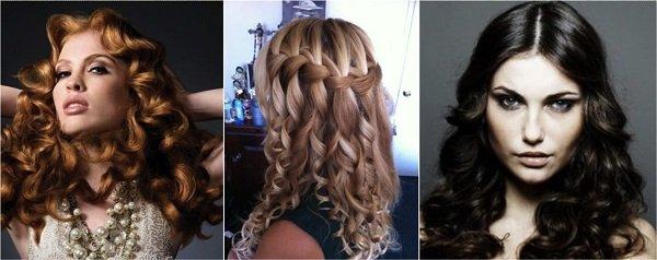 Как сделать из средней длины волос локоны 362