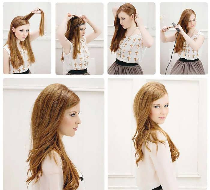Укладка на средние волосы с объемом пошагово