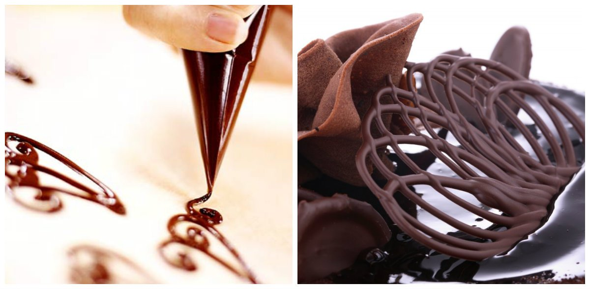 Украшение из шоколада в домашних условиях фото 845