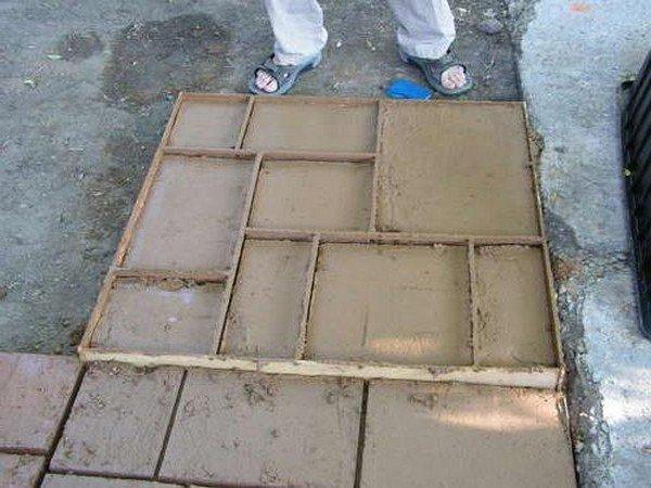 Как сделать форму своими руками для тротуарной плитки