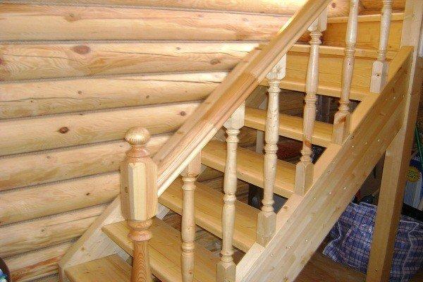 Лестница из дерева на даче своими руками фото 90