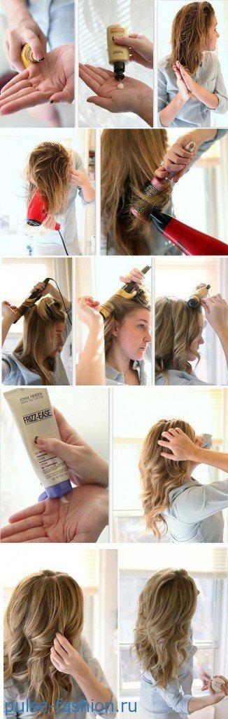 Как самому сделать укладку волос видео