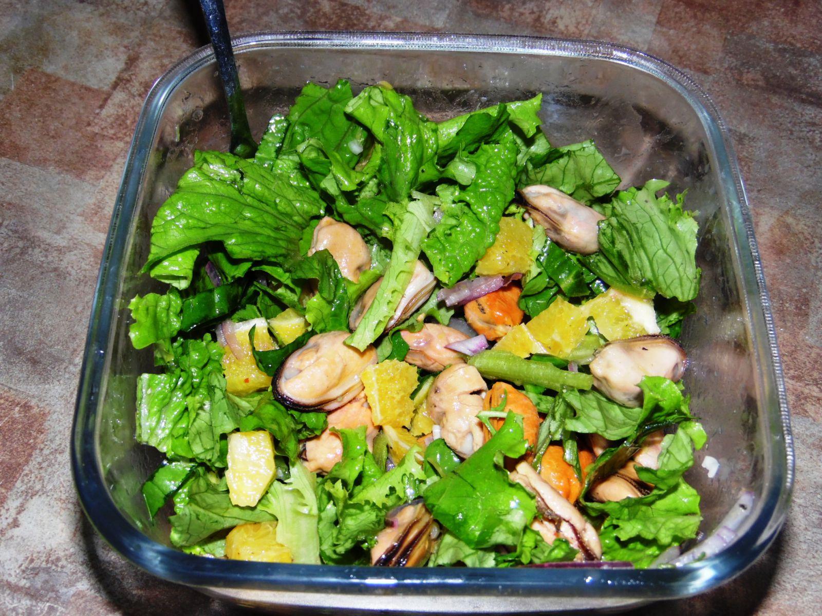 Салат с мидиями самый вкусный: рецепты, способ приготовления и отзывы 1