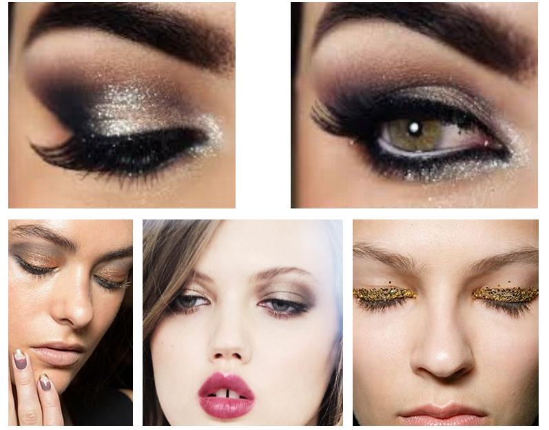 Как сделать макияж с блестящими тенями