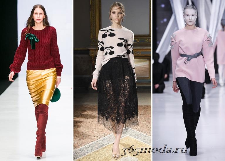 Модні жіночі светри осінь-зима 2016-2017 новинки фото  83f4ba377c3b0