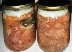 рецепти тушенки з свинини
