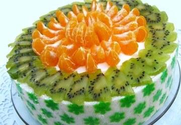 Украшение торта из фруктов своими руками 23