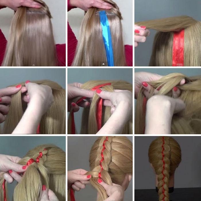Плетение кос пошаговое фото для начинающих видео