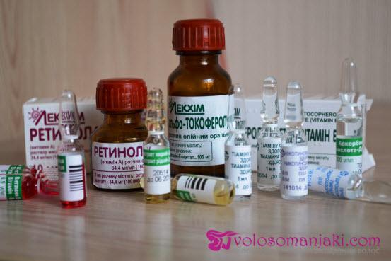 Витамин алоэ в ампулах для волос