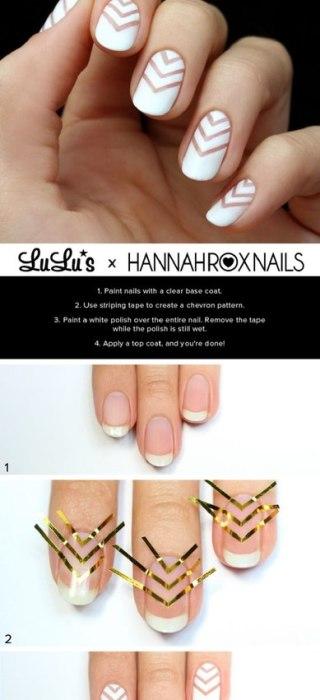 Дизайн ногтей простым лаком в домашних условиях