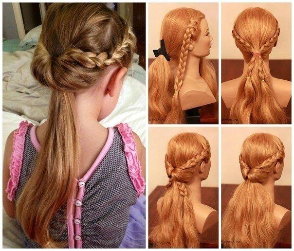 простые красивые косы повседневные прически фото пошагово