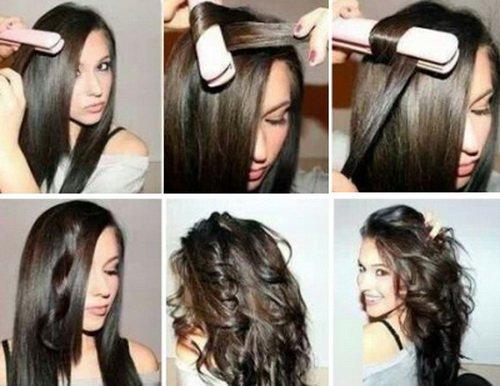 Прически на длинные волосы с утюжком