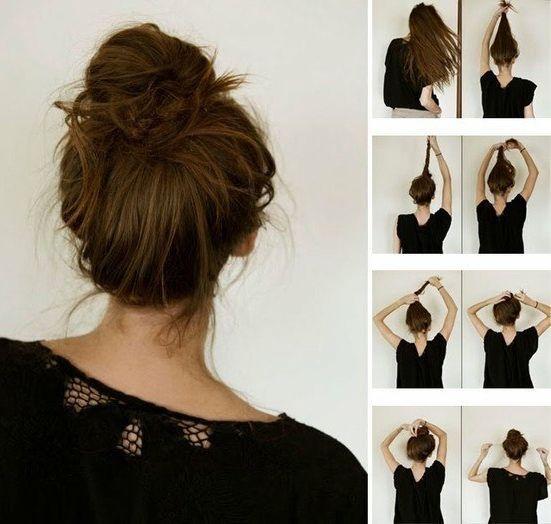 Для длинных волос пучок как сделать