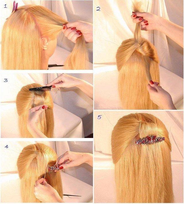 Быстрые прически для девочек на длинные волосы своими руками на каждый день