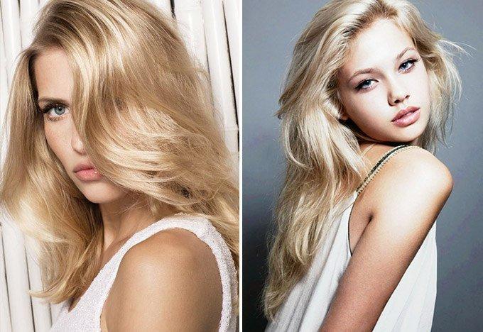 Натуральная блондинка цвет волос фото