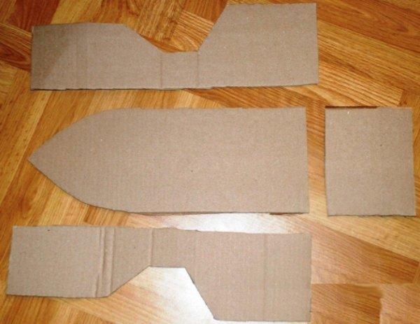 Поделки из картона кораблики 61